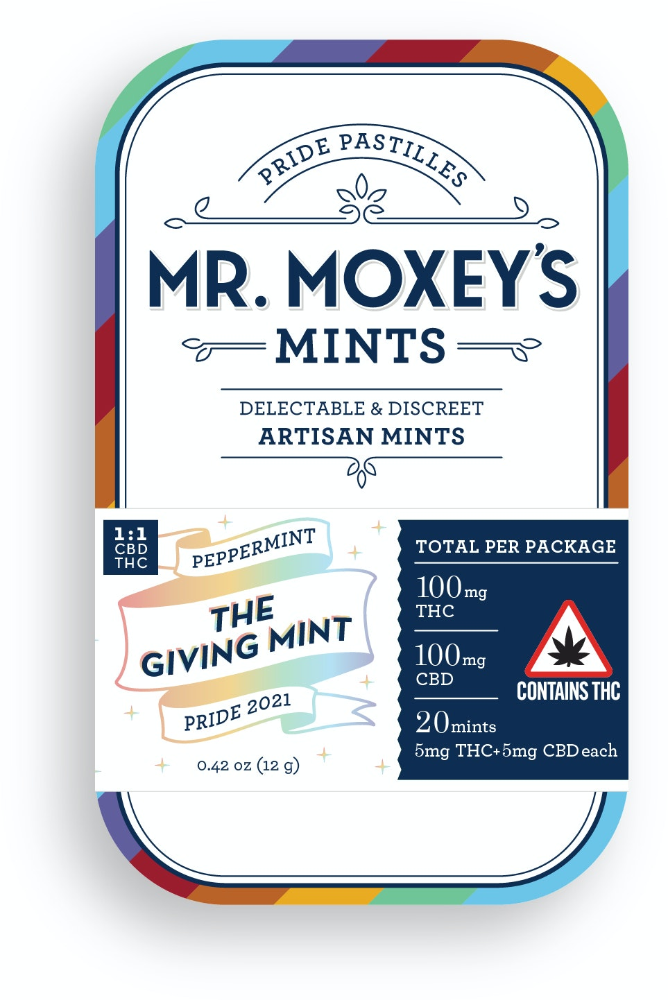 The Giving Mint - Pride 2021 (1:1 Balance Peppermint) Edibles Mints